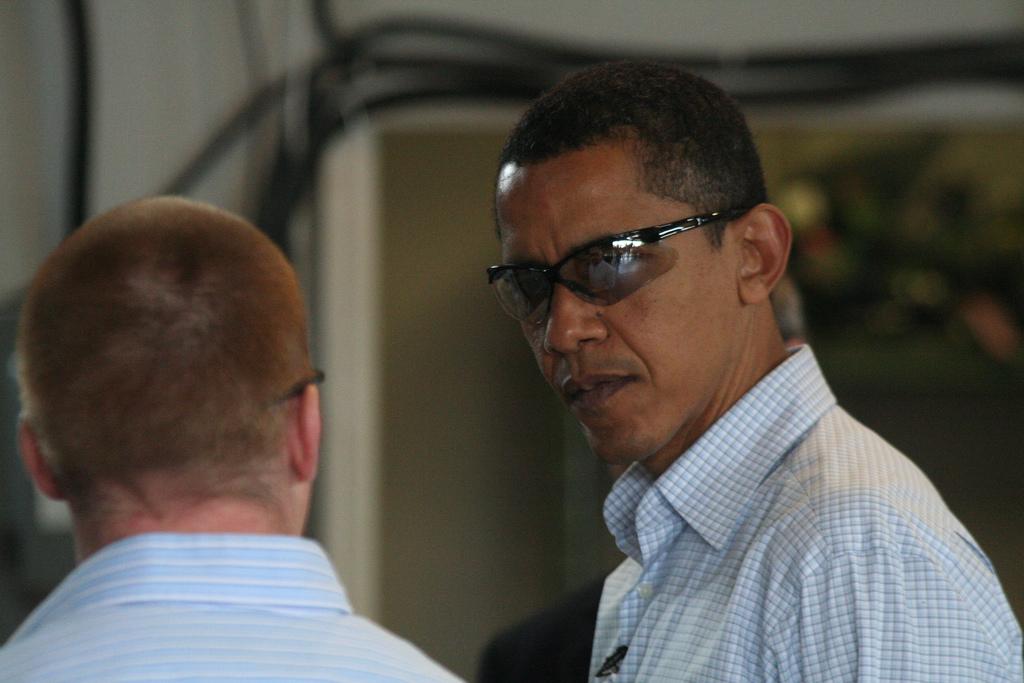 Barack Obama in shades