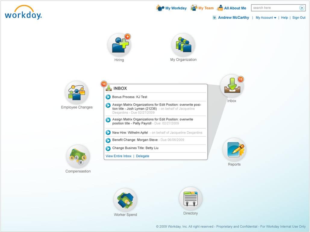 Usability in enterprise Apps: Workday 9 - Enterprise Irregulars