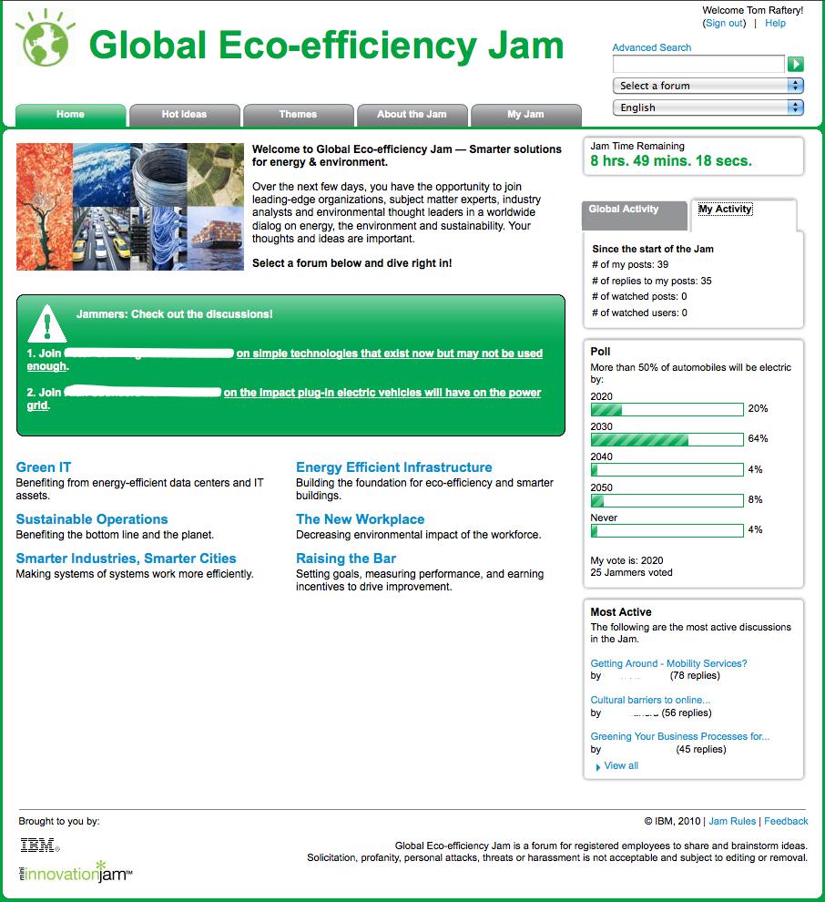 IBM Global Eco-Efficiency Jam Day 2