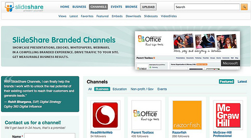 SlideShare Channels