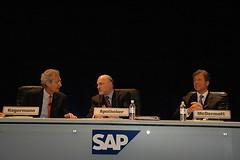 Henning Kagermann, Leo Apotheker, Bill McDermo...