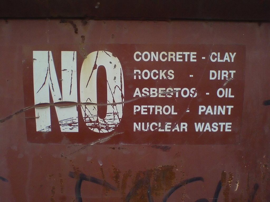 No nuclear waste