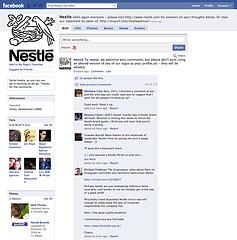 Nestlé censoring comment on FaceBook