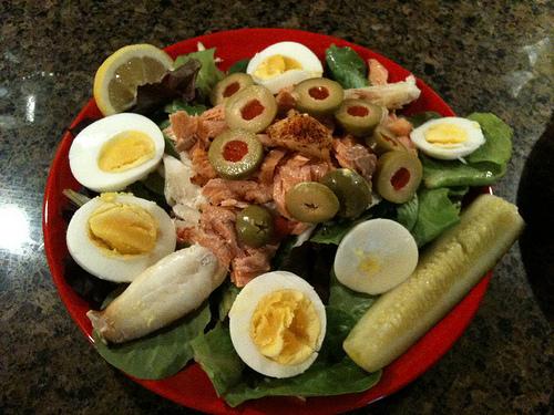 Crab/salmon Louis Salad - second time!