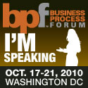 Speaking at Business Process Forum in October