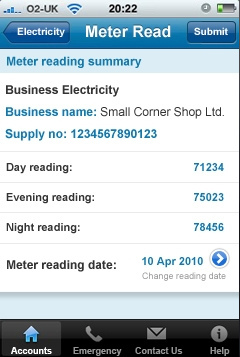 British Gas launch version 2 of their iPhone app – nice but non-inclusive!