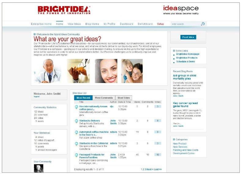 Brightidea, Ideas to Innovation