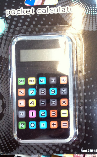 pocket calculatorm iPhone style