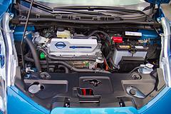 Nissan Leaf under the hood