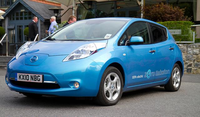 The zero-emissions Nissan Leaf test drive