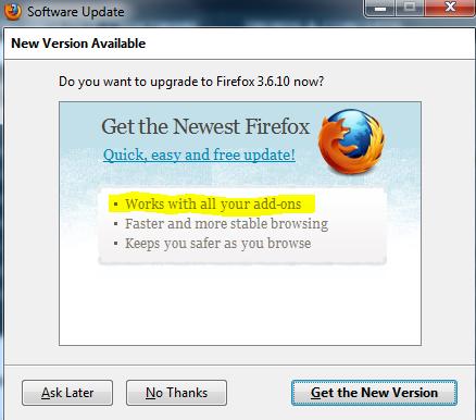 Firefox Upgrade: Who Are You Kidding, Mozilla?