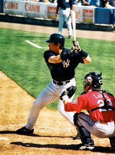 Hideki Matsui of the New York Yankees at the p...