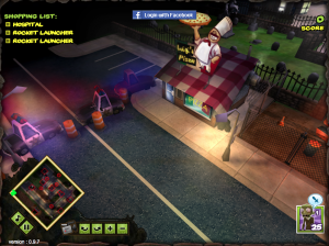 Playstation game Zombie Tycoon running under Molehill in a browser