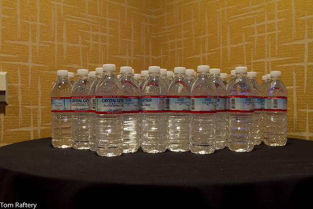 Bottled water at the HP Summit