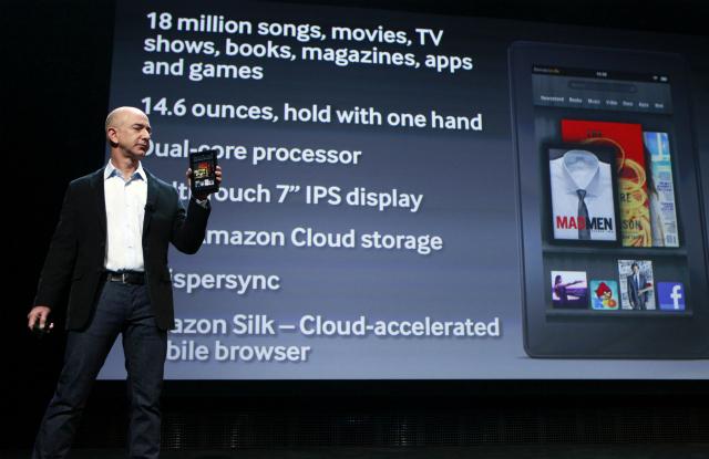 Amazon's Kindle Fire diverges the Tablet market