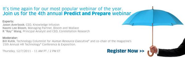 Vendor Event: Workday Predict And Prepare 2011