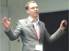 Alastair Mitchell, CEO, Huddle, speaks at a EuroCloud UK event