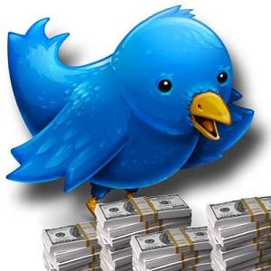 twitter bird money