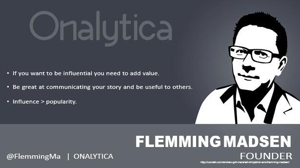 Flemming Madsen, CEO, Onalytica