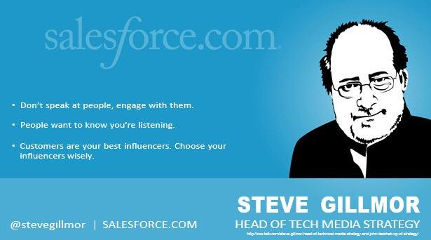 Steve Gillmor, Tech Media Strategy, salesforce.com