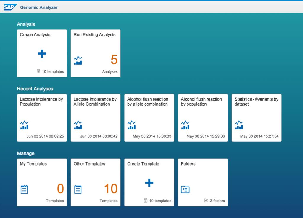 SAP's Genomic Analyzer