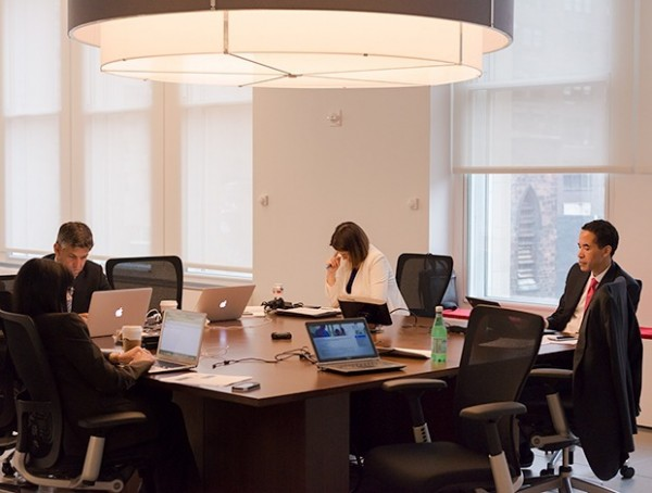 Infor's executive office, with CEO Charles Phillips (photo by Michael Krigsman)