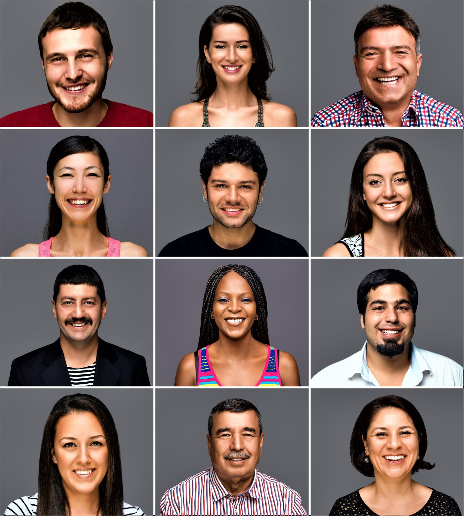Multi-Ethnic Group Of People