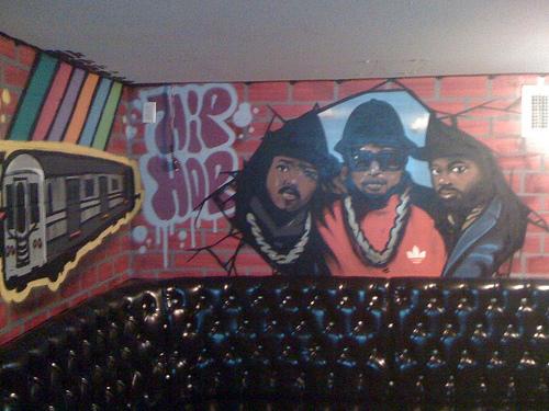 Hip-hop karaoke room at the Highball