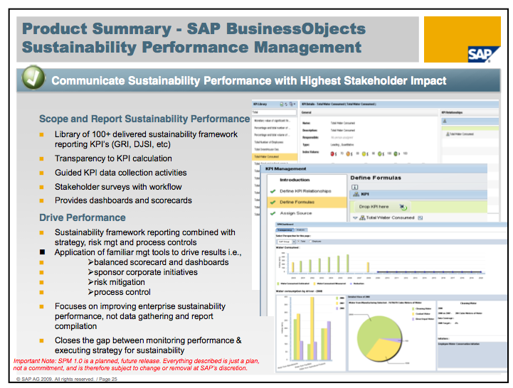 SAP BusinessObjects Sustainability Performance Management